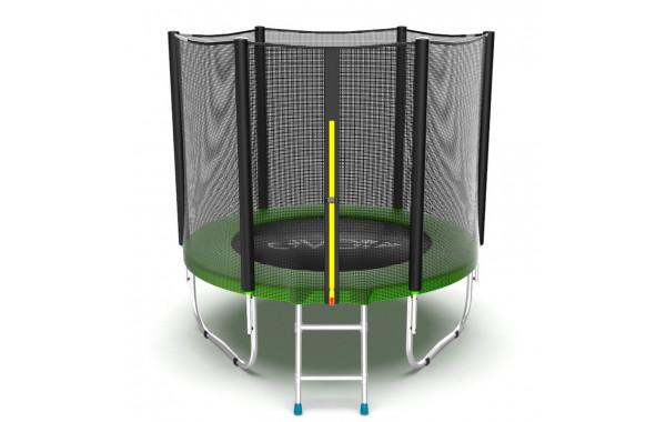 Батут с внешней сеткой и лестницей EVO Jump External 6ftt, зеленый 600_380